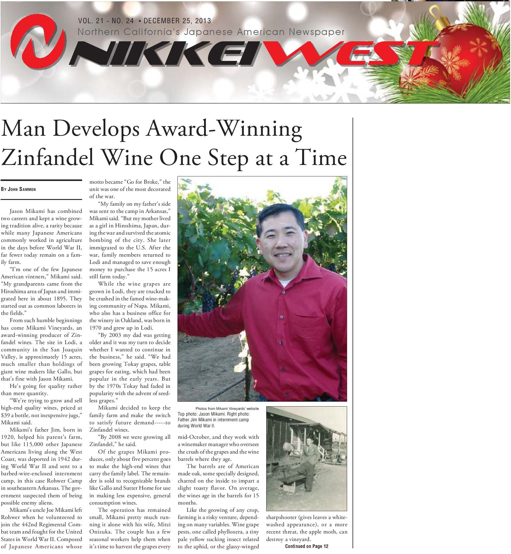 Nikkei West DEC 25 2013-page 01