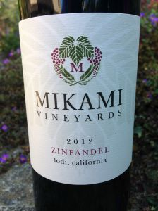 2012 Mikami Vineyards Zinfandel